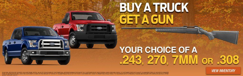 Buy A Truck >> Buy A Ford Truck Get A Gun Near Gastonia Nc Cloninger Ford